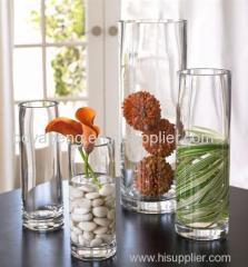 glass cylinder vase candle holder
