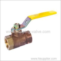 Two piece full port bronze ball valve