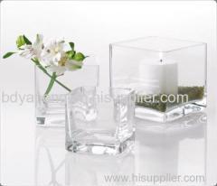 glass vase glassware cube vase