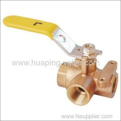 Bronze 3 way Ball Valve--Threaded
