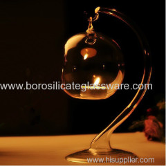 Romantic High Transparent Glass Candle Holders