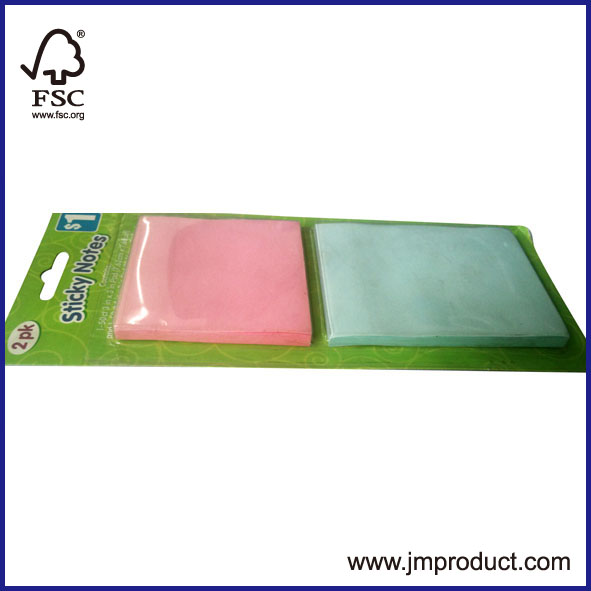 2pk sticky note pads in blister card