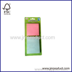 2pk sticker notepad in blister card
