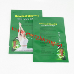 three sides sealed zipper aluminium foil food bag