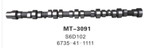 S6D102 CAMSHAFT FOR EXCAVATOR