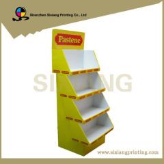 Custom color printing cardboard display shelf