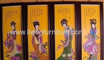 Antique reproduction painting screen
