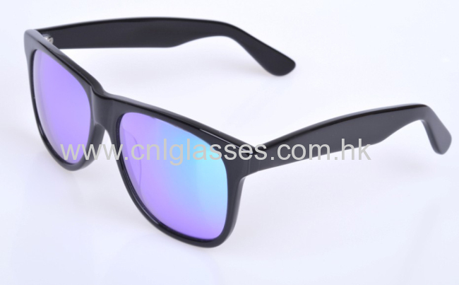 Top quality blue mirror lens wayfarer sunglasses
