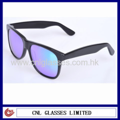 Mirror lens wayfarer sunglasses