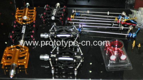 small batch machining for bycicle parts, metal prats,aluminium parts