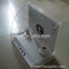 Energy saving lamp acrylic of display rack