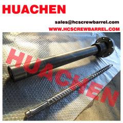 Bimetallic screw and nitrided barrel
