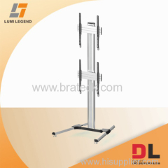 VERTICAL DUAL VIDEO WALL FLOOR STAND