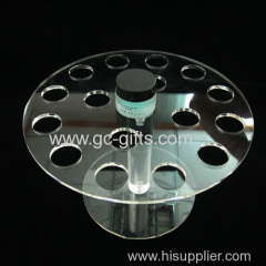Acrylic display rack transparent Round Lipstick