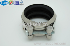 304 Stainless steel pipe coupling with EPDM Rubber KDN100