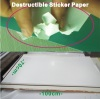 Factory Directly Supply Ultra Destructible Sticker Paper Sheets For UAE Market