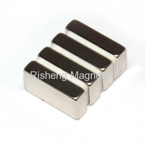 Super Strength Neodymium Block Magnets Manufacturer N42SH 50.8 x 12.7 x 6.35mm