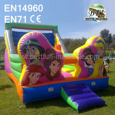 Backyard Inflatable Princess Slide For Sale