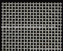 5mm mesh size flat rod woven square mesh stainless steel mesh
