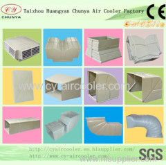 air duct for evaporative air cooler