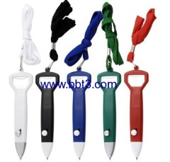 Promotional lanyard ballpoint pen with bottle opener