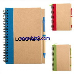 recycle notebook with ballpen