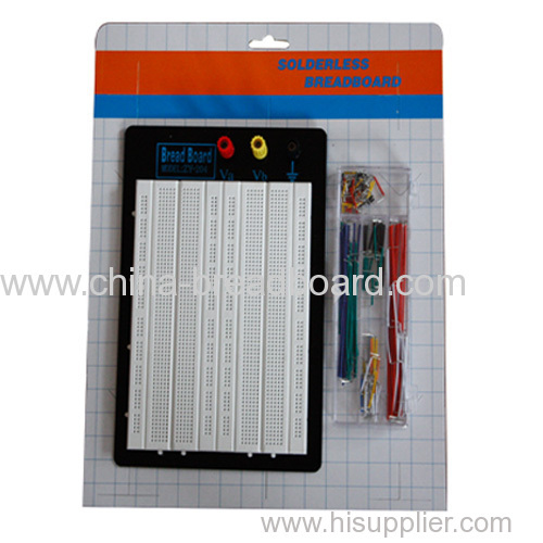1680 white breadboard and jumper wire kit ZY-W204+J
