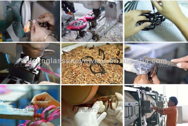 Custom designer eyeglasses frame factory, vintage eyegalsses frame with diamonds on arms