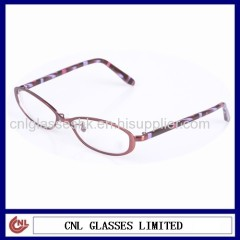 Fashion oval metal optical frame for unisex