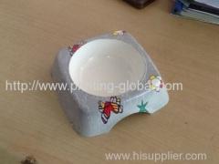 Heat transfer film for plastic pet bowl