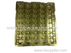 customzied flocking thermoformed plastic tray
