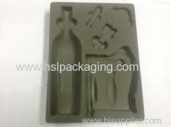 Plastic grey flocking tray