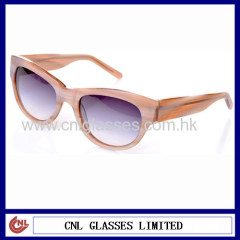 Wood color acetate sunglasses