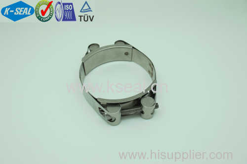 High Quality Stainless Steel Double Bolt Hose Clamp KGD8x100SS