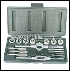 16pcs metric tap and die set in blow case