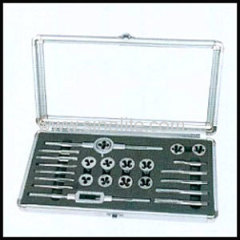 Inch tap and die set packed in aluminium case 24pcs