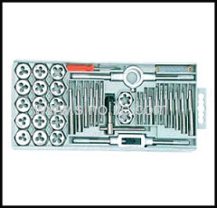 Inch tap and die set in plastic case 40pcs