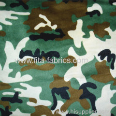Camouflage fabric made of polyester fleece