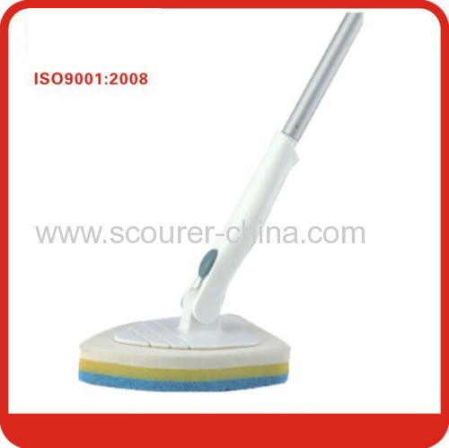 White telescopic aluminum handle bathroom scrubber brush for Bathroom floor cleaning products