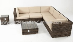 Garden rattan furniture outdoor wicker lounge set sofa