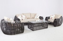 2013 new design outdoor round wicker furniture sofa set lounge
