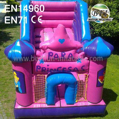 Pink Inflatable Slide Princess For Sale