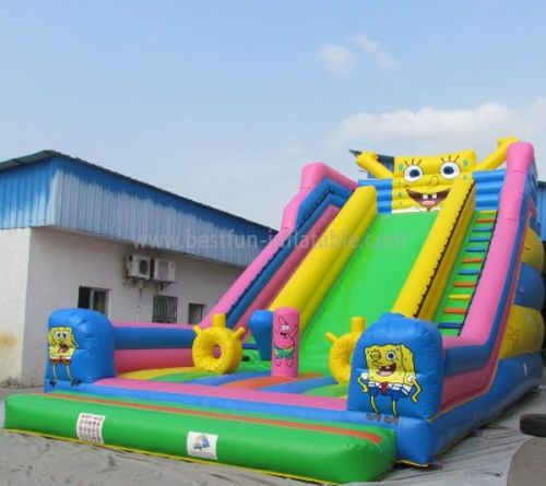 Spongebob Inflatable Slide For Kids And Adults