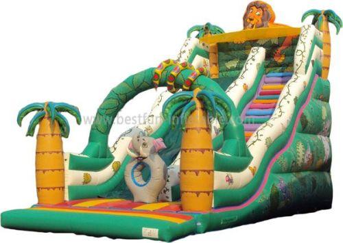 Jungle Safari Inflatable Slides For Amusement Park