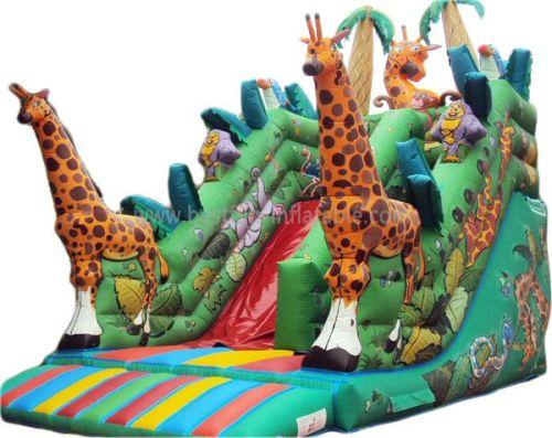 Best Hot Sale Commercial Giraffe Inflatable Jungle Slide