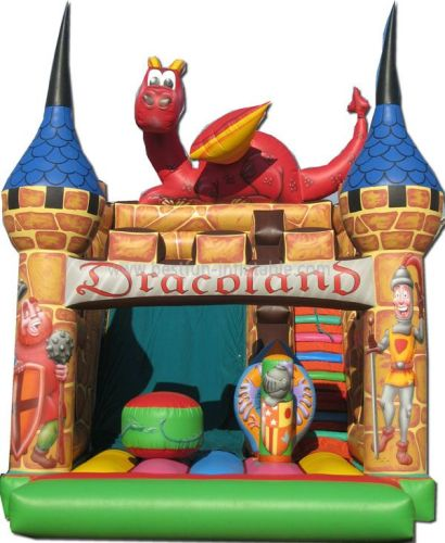 Party Dinosaur Giant Inflatable Castle Slide