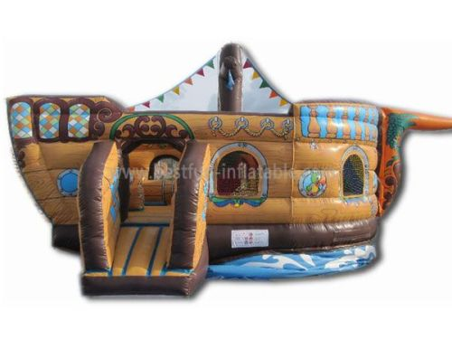 Small Kids Ship Slide Blow Up Inflatables