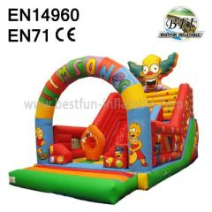 Blow Up Inflatables Clown Slide