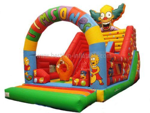 Backyard Inflatable Circle Slides