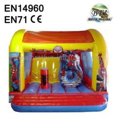 Inflatable Spiderman Roof Slide